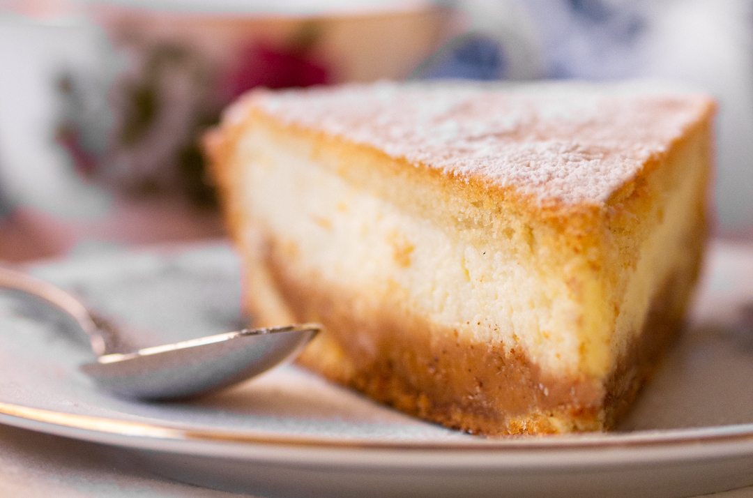 Receta: tarta de ricota y dulce de leche